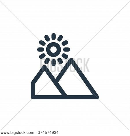 landscape icon isolated on white background from landscaping equipment collection. landscape icon tr