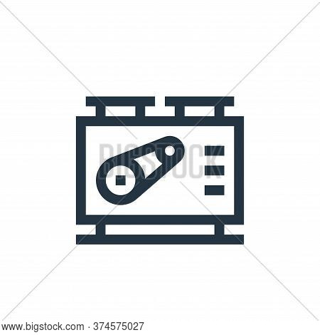 machine icon isolated on white background from manufacturing collection. machine icon trendy and mod