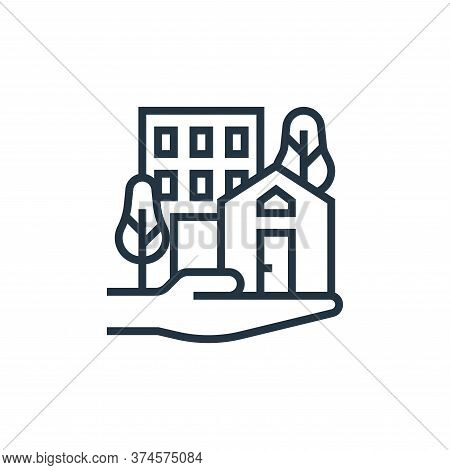 real estate icon isolated on white background from economic crisis collection. real estate icon tren