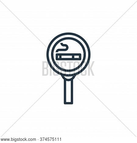 smoking area icon isolated on white background from motorway collection. smoking area icon trendy an