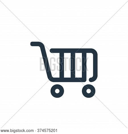 shopping cart icon isolated on white background from shopping collection. shopping cart icon trendy