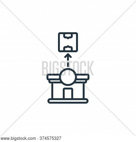 warehouse icon isolated on white background from shipping and delivery collection. warehouse icon tr