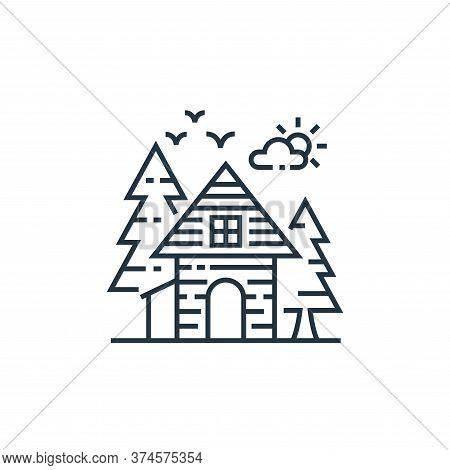 cottage icon isolated on white background from tourism collection. cottage icon trendy and modern co