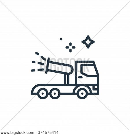cannon icon isolated on white background from mass disinfection collection. cannon icon trendy and m