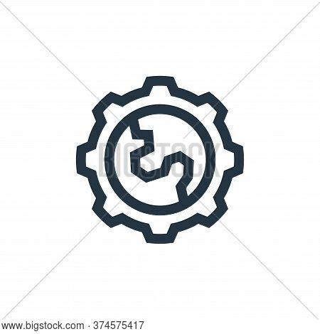 gear icon isolated on white background from mother earth day collection. gear icon trendy and modern