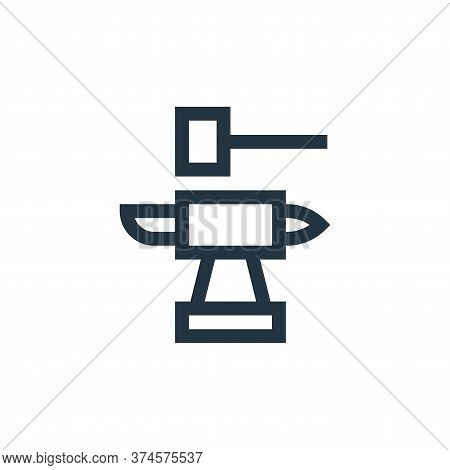 blacksmith icon isolated on white background from history collection. blacksmith icon trendy and mod