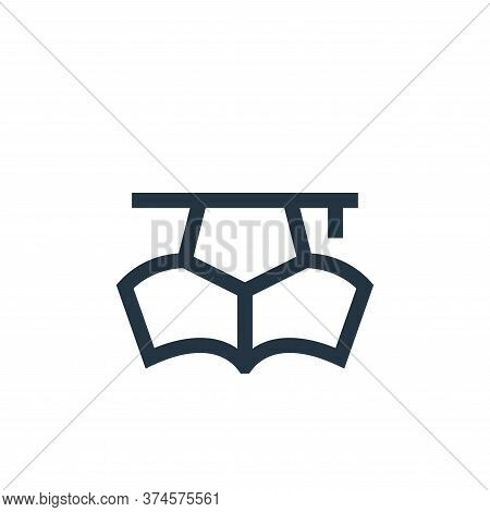 education icon isolated on white background from job resume collection. education icon trendy and mo
