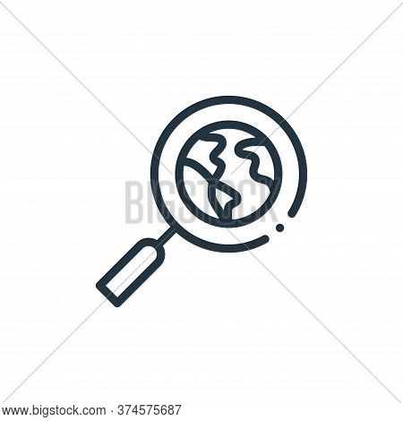 searching icon isolated on white background from world love collection. searching icon trendy and mo