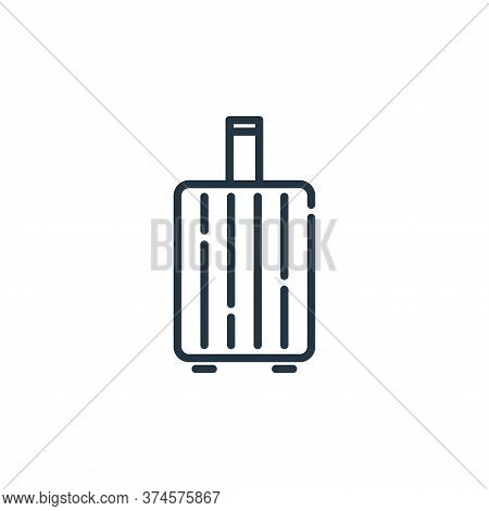 travel baggage icon isolated on white background from insurance collection. travel baggage icon tren