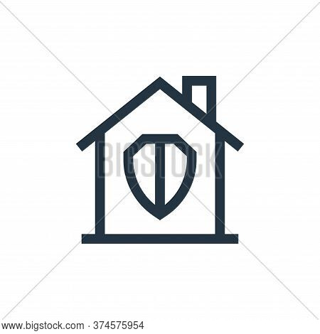 security icon isolated on white background from real estate collection. security icon trendy and mod