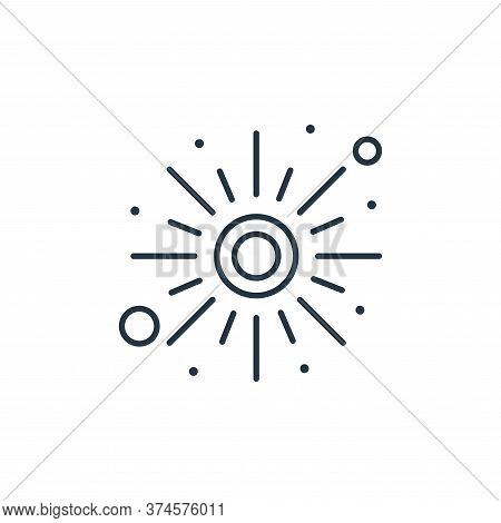 sun icon isolated on white background from islam and ramadan collection. sun icon trendy and modern