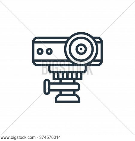 multimedia projector icon isolated on white background from cinema collection. multimedia projector
