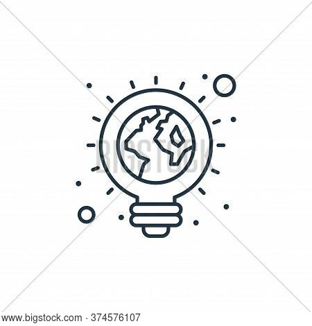 ecologic light bulb icon isolated on white background from earth day collection. ecologic light bulb