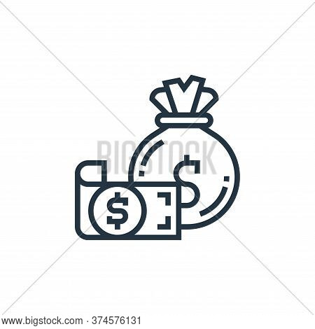 money bag icon isolated on white background from casino collection. money bag icon trendy and modern