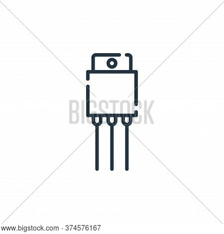 cable icon isolated on white background from electrician tools and elements collection. cable icon t