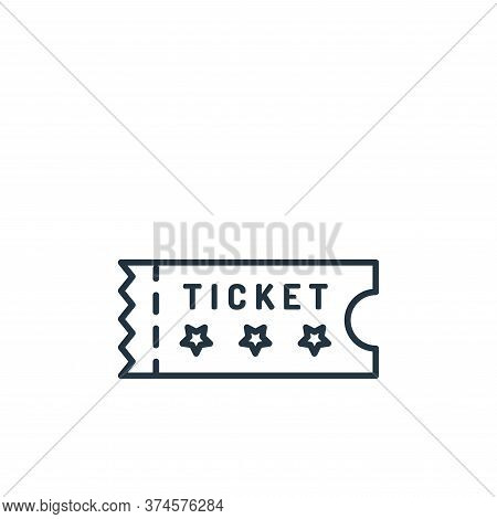 ticket icon isolated on white background from casino collection. ticket icon trendy and modern ticke