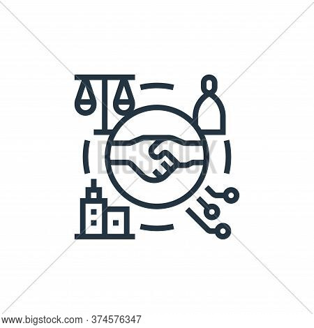 partnership icon isolated on white background from business risks collection. partnership icon trend