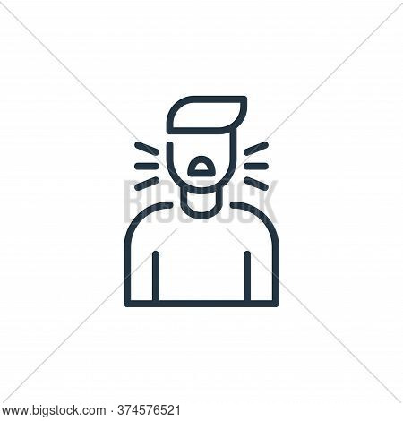 cough icon isolated on white background from coronavirus collection. cough icon trendy and modern co