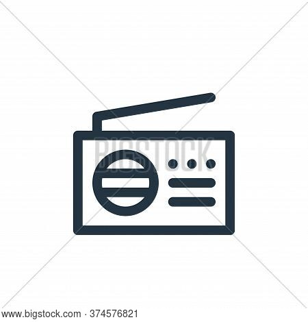 radio icon isolated on white background from communication and media collection. radio icon trendy a