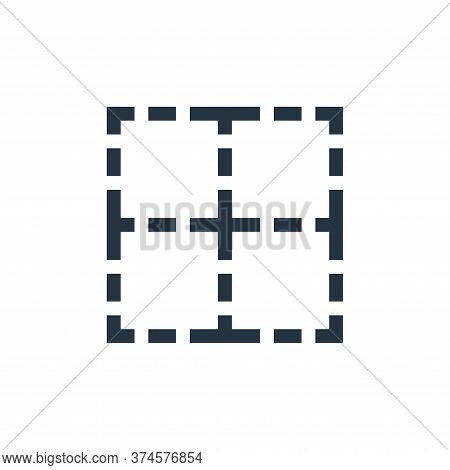 border icon isolated on white background from text editor collection. border icon trendy and modern