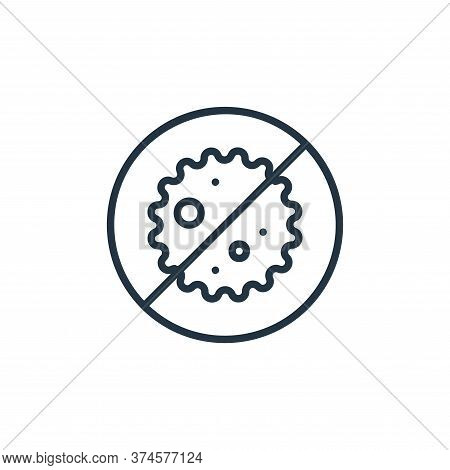bacteria icon isolated on white background from covid collection. bacteria icon trendy and modern ba