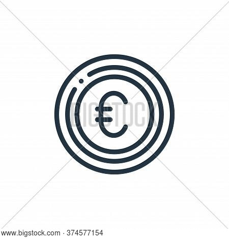euro icon isolated on white background from europe collection. euro icon trendy and modern euro symb
