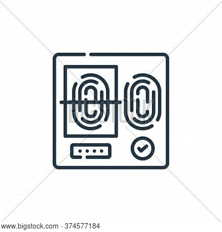 fingerprint scan icon isolated on white background from hacker collection. fingerprint scan icon tre