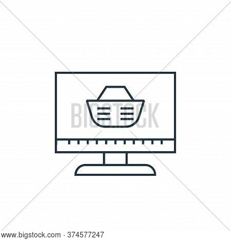 computer screen icon isolated on white background from online shopping collection. computer screen i