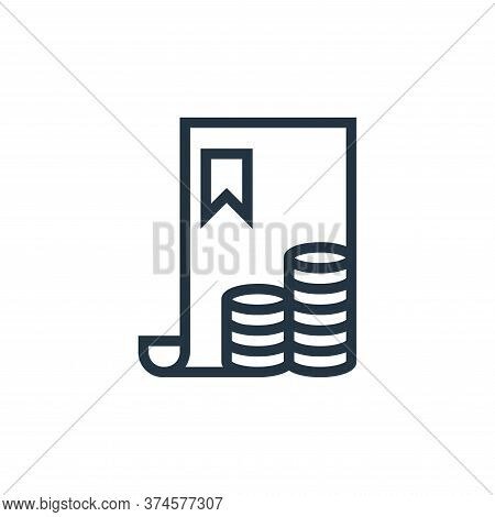 bill icon isolated on white background from finance collection. bill icon trendy and modern bill sym
