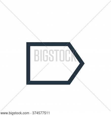 right icon isolated on white background from email collection. right icon trendy and modern right sy