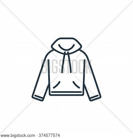 hood icon isolated on white background from clothes and outfit collection. hood icon trendy and mode