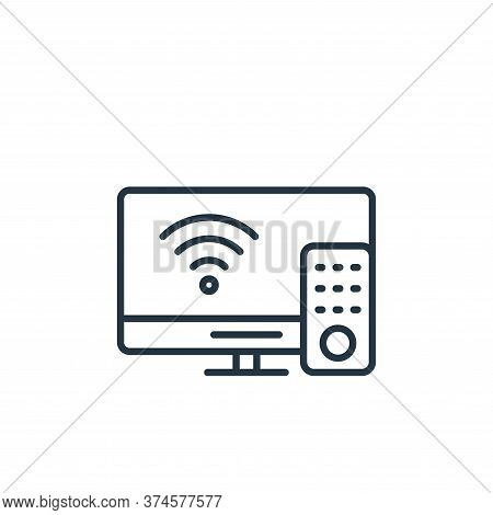 smart tv icon isolated on white background from internet of things collection. smart tv icon trendy
