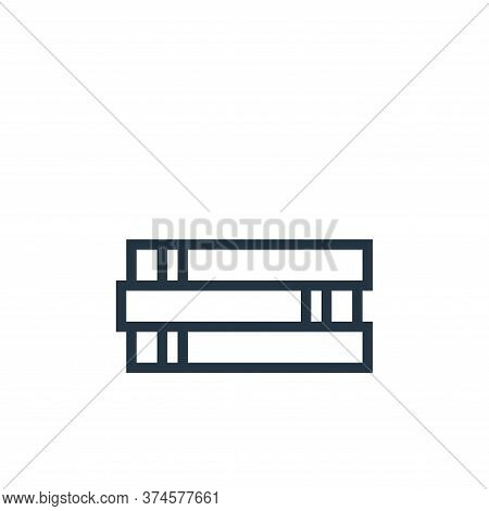 books icon isolated on white background from education collection. books icon trendy and modern book
