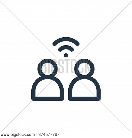 network icon isolated on white background from internet of things collection. network icon trendy an