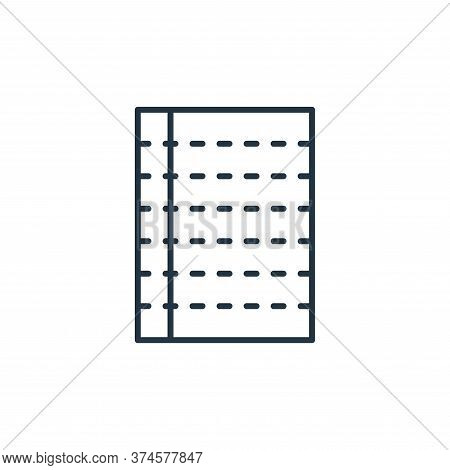 paper icon isolated on white background from stationery collection. paper icon trendy and modern pap