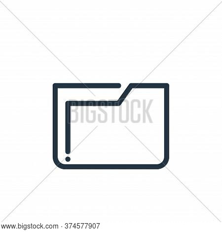 folder icon isolated on white background from ricon collection. folder icon trendy and modern folder