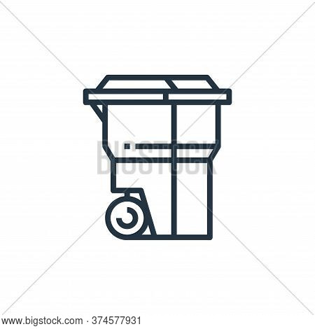 recycle bin icon isolated on white background from recycling collection. recycle bin icon trendy and