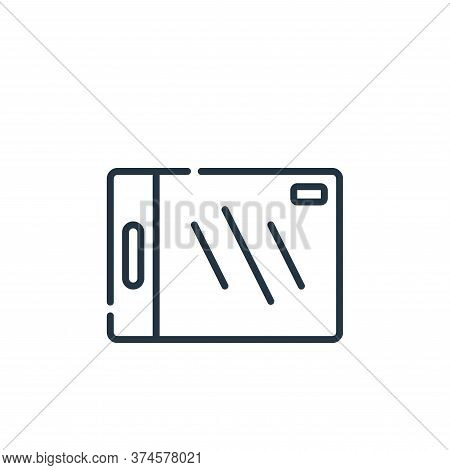 cutting board icon isolated on white background from plastic products collection. cutting board icon
