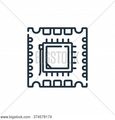 processor icon isolated on white background from database and servers collection. processor icon tre