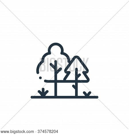trees icon isolated on white background from in the village collection. trees icon trendy and modern