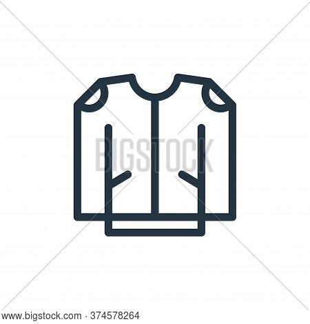 jacket icon isolated on white background from fashion collection. jacket icon trendy and modern jack