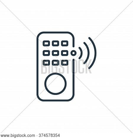 remote control icon isolated on white background from internet of things collection. remote control