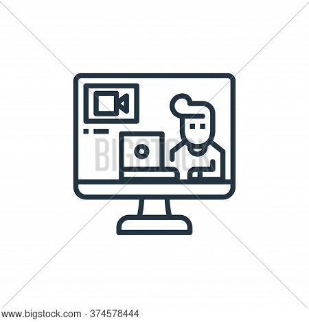 video call icon isolated on white background from work from home collection. video call icon trendy