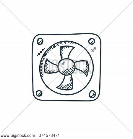 cooling fan icon isolated on white background from technology collection. cooling fan icon trendy an