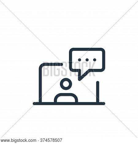 chatting icon isolated on white background from work office and meeting collection. chatting icon tr