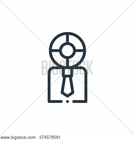 user icon isolated on white background from design thinking collection. user icon trendy and modern