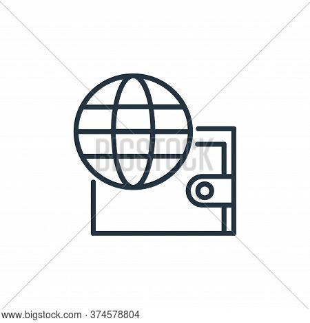 online banking icon isolated on white background from shopping line icons collection. online banking