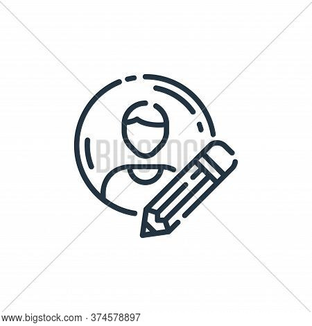 profile icon isolated on white background from user interface collection. profile icon trendy and mo