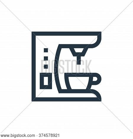 coffee maker icon isolated on white background from electronics collection. coffee maker icon trendy