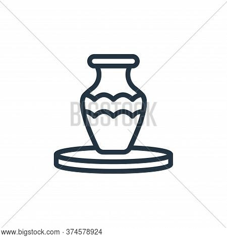 pottery icon isolated on white background from hobbies collection. pottery icon trendy and modern po